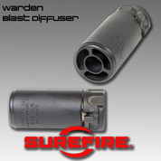 SureFire Warden-Bk: Blast Regulator, Multi Caliber, Blk