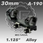 Nightforce A190: 1.125 inch 20 MOA 30mm Unimount