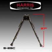 "Harris S-25C: Bipod Sling Swivel Stud Mount 13-1/2"" to 27"" Black"