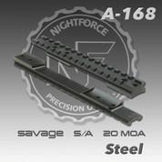 Nightforce A168: Savage S/A New Style 1pc 20 MOA Base
