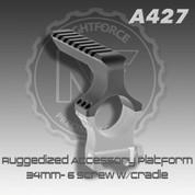 Nightforce A427: Ruggedized Accessory Platform- 34mm- 6 Screw w/Cradle