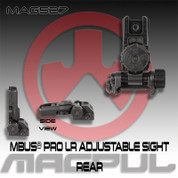 Magpul MAG527: MBUS Pro LR Adjustable Sight- Rear