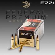 Federal P771: Premium V-Shok 17 Hornady Magnum Rimfire (HMR) 17gr Hornady V-Max