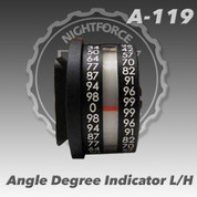 Nightforce A119: Angle Degree Indicator For Left-Handed Action