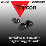 Trijicon 600210: GL01 Bright & Tough Night Sight Set, Green Front & Green Rear for Glock Pistols