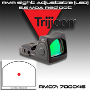 Trijicon 700046: RM07: RMR Sight Adjustable (LED) 6.5 MOA Red Dot