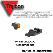 Trijicon 600785: HD Night Sight Set - Orange Front Outline - for Glock Pistols