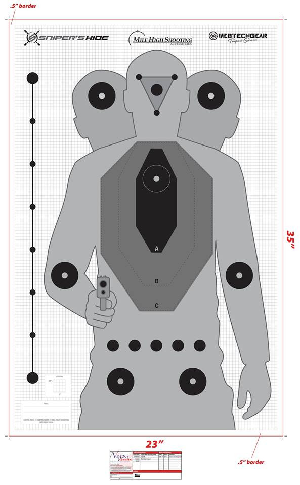 graphic about Printable Pistol Drill Targets referred to as SNIPERS Cover Aim 10 PACK