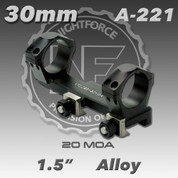 """Nightforce A221: 1.5"""" 20 MOA 30mm Unimount"""