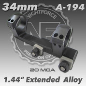 """Nightforce A194: 1.44"""" 20MOA 34mm Extended Unimount"""