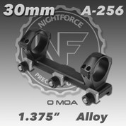 "Nightforce A256: 1.375"" 0MOA 3JAW/NUT 30mm MagMount"