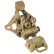 Wilcox:  L4 L4 G70 NVG Helmet Mount with 3 Hole Shroud, Black