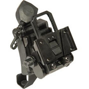Wilcox: G37 NVG Helmet Mount with One Hole Shroud, Black