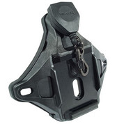 Wilcox:  Hybrid Three Hole/One Hole Shroud with Lanyard, Black