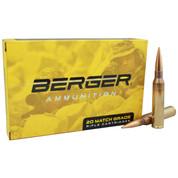 Berger Ammunition: .338 Lapua Mag 300gr Hybrid Target, 20 Rnd Box
