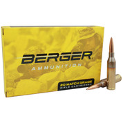 Berger Ammunition: .338 Lapua Mag 300gr Scenar OTM, 20 Rnd Box