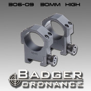 Badger Ordnance 306-09: High 30mm Ring 1.125""