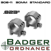 Badger Ordnance 306-11: Max-50 Scope Rings (Standard Height) .823""