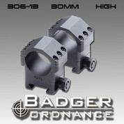 Badger Ordnance 306-13: Max-50 30mm Scope Ring (High) 1.125""