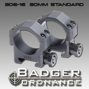 "Badger Ordnance 306-16: Standard Height 30mm Ring (Alloy) .823"" High"