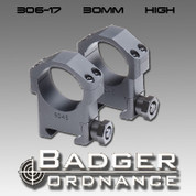 "Badger Ordnance 306-17: 30mm Ring (Alloy) 1.125"" High"
