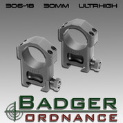 "Badger Ordnance 306-18: Ultra High 30mm Ring (Alloy) 1.400"" High"