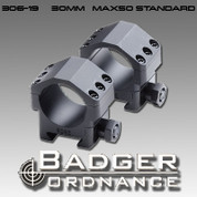 "Badger Ordnance 306-19: Standard Height Max-50 Scope Ring (Alloy)  .823""  High"