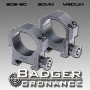 "Badger Ordnance 306-20: Medium 30mm Ring .885"" High"