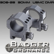 "Badger Ordnance 306-28: USMC DMR 30mm Ring 1.031"" High"
