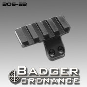 Badger Ordnance 306-33: 12 O'Clock Picatinny Rail Cap 4 Slot