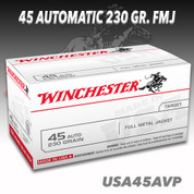 Winchester USA45AVP: 45 ACP 230gr Full Metal Jacket