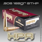 HPR 308168BTHP: 308Win - 168gr BTHP Match 20ct/Box