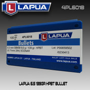 Lapua 4PL6018: 6.5mm (.264) - 139gr Scenar HPBT 100/Box