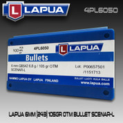 Lapua 4PL6050: 6mm (.243) Scenar Lockbase 105gr HPBT 100/Box