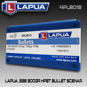 Lapua 4PL8013: .338 Scenar 300gr HPBT 100/Box