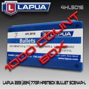 Lapua 4HL5016: 22 cal 77gr Scenar OTM 1000/Box