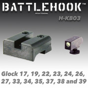 Battlehook H-KB03: Sight Sets For Glock Pistols Tritium Front