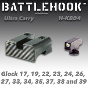 Battlehook H-KB04: Sight Sets For Glock Pistols- Ultra Carry Tritium Front