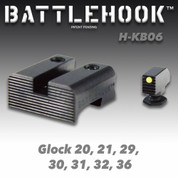 Battlehook H-KB06: Sight Sets For Glock Pistols, Fiber Optic Front