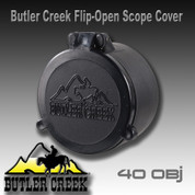 Butler Creek 30400: Flip-Open Scope Cover #40 OBJ