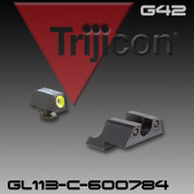 Trijicon 600784: HD Night Sight Set Yellow Front Outline for Glock Pistols