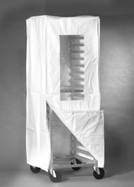 White Zipper Single Bun Pan Rack Cover