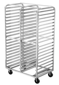 Aluminum Double-Bay Pan Racks