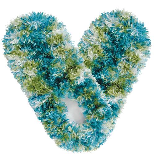 Fuzzy Footies Slippers - Light Blue/Light Green/White - 60023 - Red Carpet Studios - christophersgiftshop.com