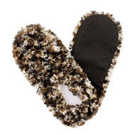 Fuzzy Footies Slippers - Camel/Black - 60036 - Red Carpet Studios - christophersgiftshop.com