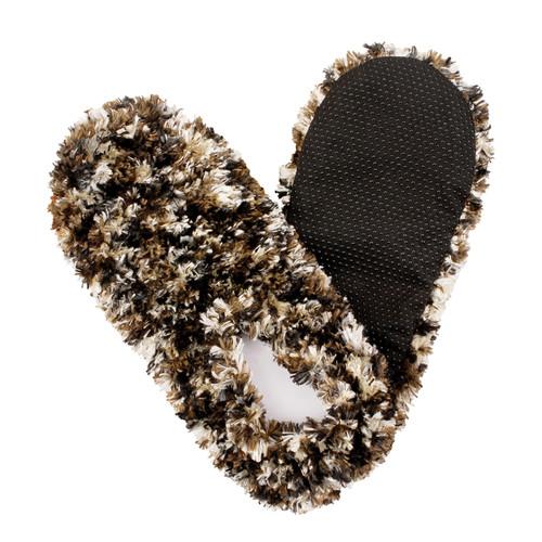 Fuzzy Footies Slippers - Camel/Black - 60036 - Red Carpet Studios - christophersgiftshop.com