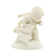 Fashionably Late Snowbaby with Book 4036158 - Department 56 - Introduced in 2013 - Snowbabies Girlfriends Collection - christophersgiftshop.com