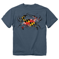 Maryland Ripped Crab Mens T-Shirt - 00073 - Maryland Apparel - christophersgiftshop.com