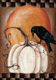 Pumpkin Crow House Flag - 2914FL - Custom Decor - christophersgiftshop.com