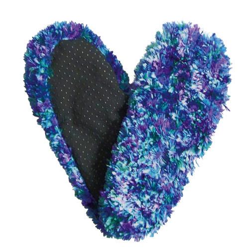 Fuzzy Footies Slippers - Blue/Green/Purple - 60001 - Red Carpet Studios - christophersgiftshop.com